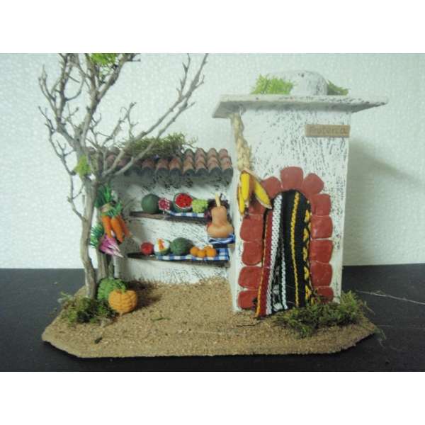 Casa belen moruna med fruteria 20x15x16 cm belenes - Belenes puente tocinos ...