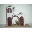 Casa belen navidad moruna doble arco 280x120x270
