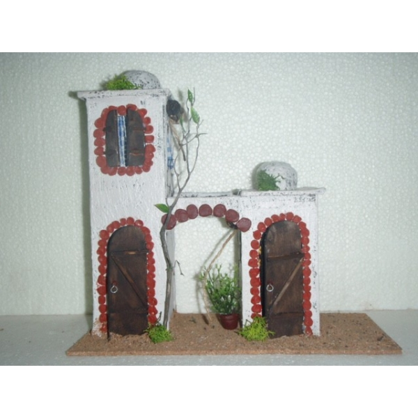 Casa belen navidad moruna doble arco 280x120x270 belenes - Belenes puente tocinos ...