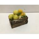 Caja mad. belen navidad Melones amarillos 50x35x25mm