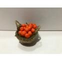 Cesta peq. miniatura belen frutas naranjas