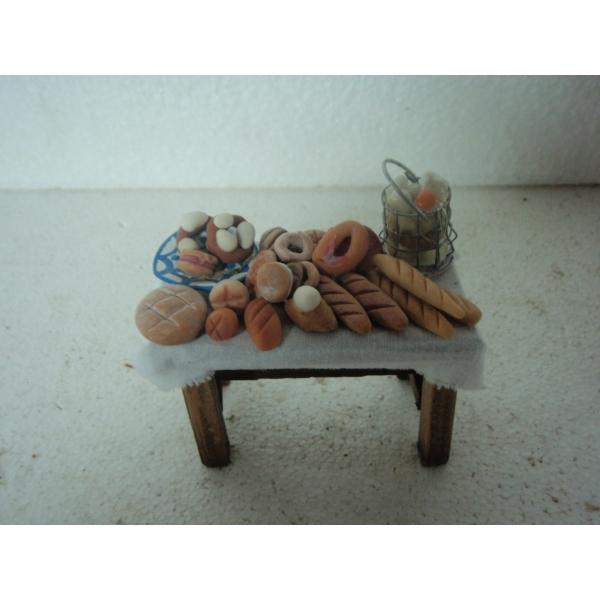 Mesa madera med belen panaderia 95x50x60 belenes puente - Belenes puente tocinos ...